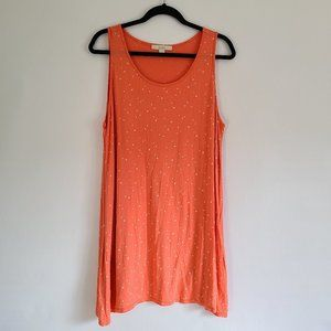 Sejour Coral Star Swoop Side Hilo Long Tank Top 1X